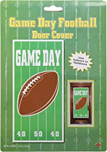 Game Day Football Door Cover Party Accessory (1 count) (1/Pkg)
