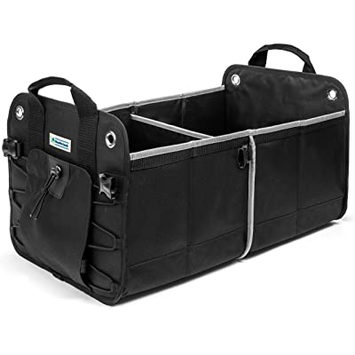 Heavy Duty Car Trunk Organizer By HomePro Goods, Sturdy Storage for Travel, Groceries and Gear, Black: Home Improvement