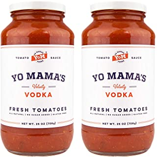 Keto Vodka Pasta Sauce by Yo Mama's Foods - Pack of (2) - No Sugar Added, Low Carb, Low Sodium, Gluten Free, Paleo Friendly, and Made with Whole, Non-GMO Tomatoes.