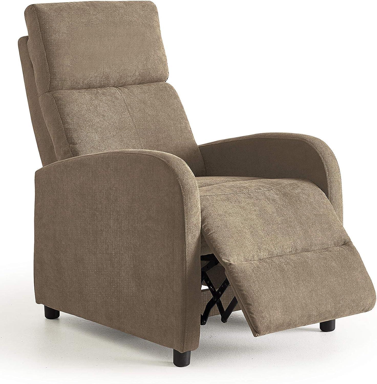 Home Heavenly®- Butaca reclinable, Nexus sillón Relax, cómodo y Compacto para salón, reposapies, Color marrón