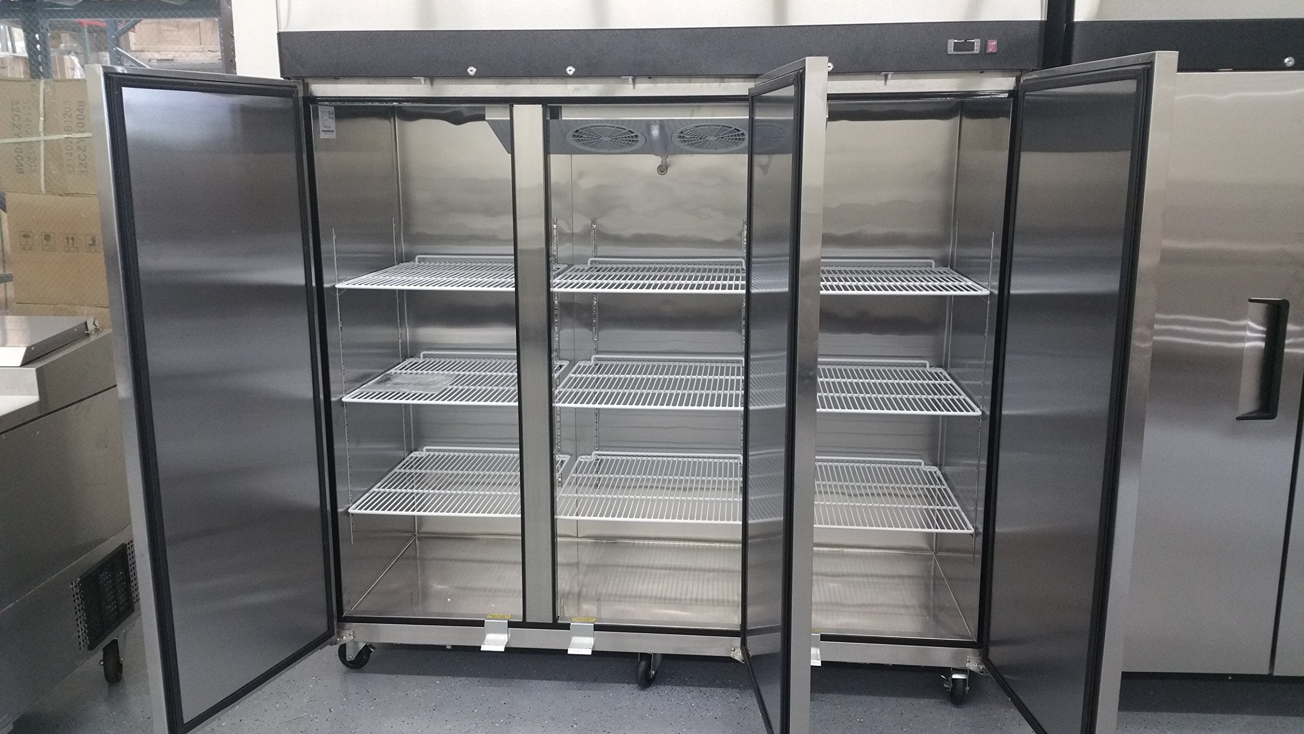 3 Door Stainless Steel Freezer Commercial Freezer MBF-8003