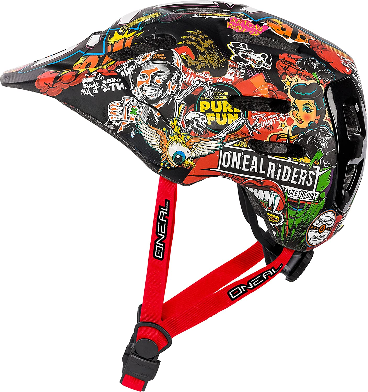 ONeal Defender Crank Casco de Bicicleta, Multicolor, S/M: Amazon ...