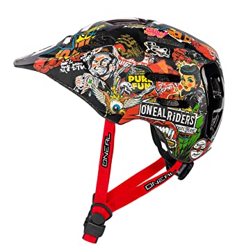 ONeal Defender Crank Casco de Bicicleta, Multicolor, ...