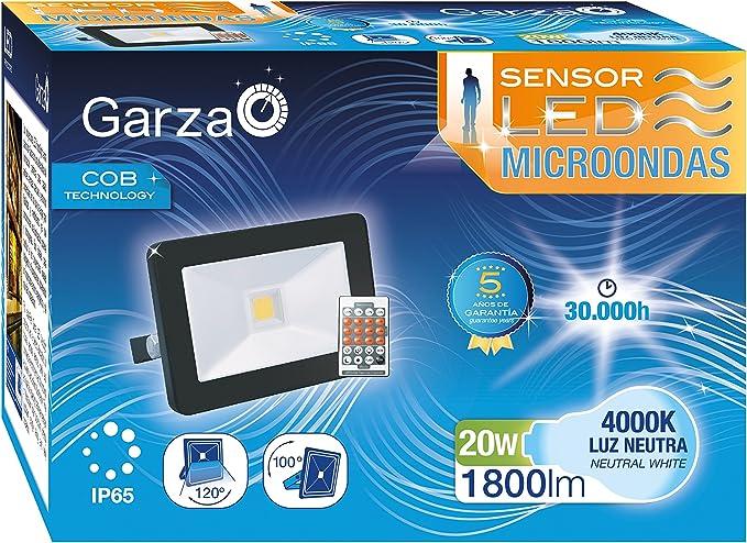 Garza Lighting Outdoor-Foco Proyector COB LED de Exterior con ...