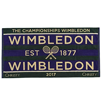 Tennis Wimbledon 2018 on Court Damen Tennis Handtuch von Christy Uk 132 Jahre Wimbledon Autogramme & Autographen
