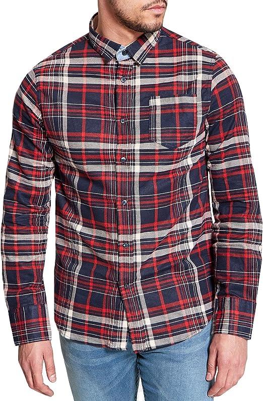 Men/'s Brave Soul Cotton Blend Buttoned Collar Long Sleeve Shirt NEW S-XL