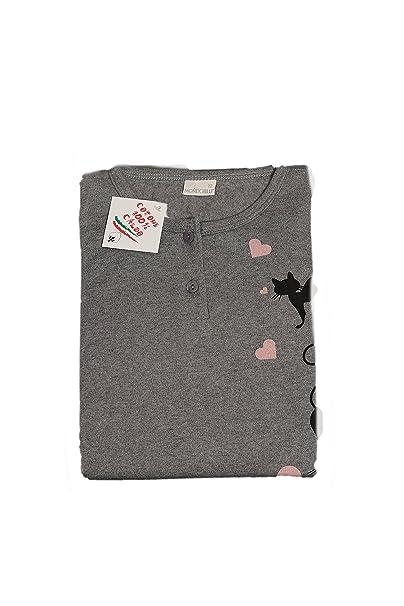 Mondo Blu - Pijama 08-606 para chica, 100% algodón interlock de algodón