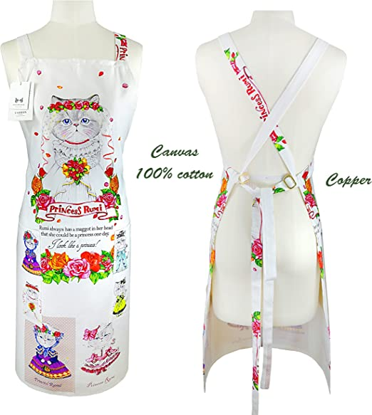 100% algodón Canvas delantal, durable extra larga de la mujer Cruz ...