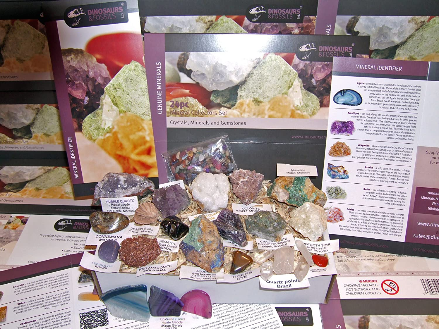 ... LARGE GIFT COLLECTION - Rocks, Crystals, Minerals and Gemstone NEW 24pc  Collection Set 5 of 5 - Children or adults gift set: Amazon.co.uk: Toys &  Games