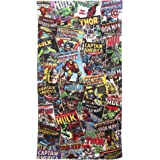 Marvel Comics 'Heros' Printed 100% Cotton Beach Towel