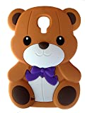 SKS Distribution® brun Silicone mignon Ours Bow Bear Etui Coque Housse Pour Samsung Galaxy S4 I9500