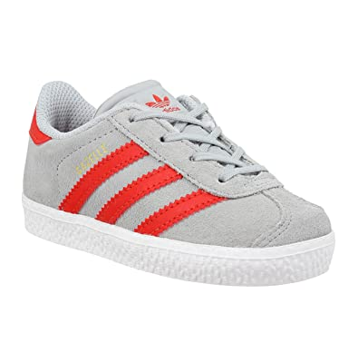 adidas Gazelle 2 Infant Clear Onix Red - 3 Infant UK 428fcf5a1