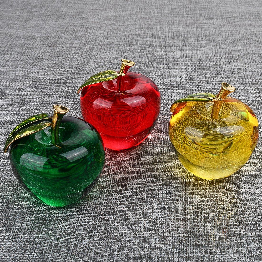 H&D Glasur Crystal Apple Briefbeschwerer Craft Dekoration, Dekoration, Dekoration, 3 Stück. B07D4D4N6M | Moderate Kosten  a8128f
