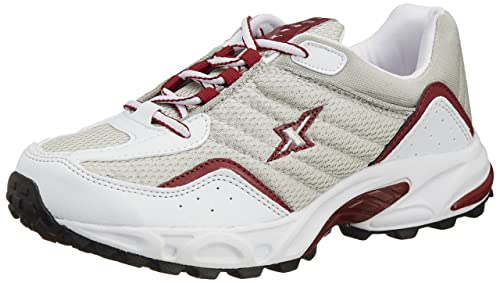 1dd1c745797a42 Image Unavailable. Image not available for. Colour: Sparx Men's Silver and  Red Running Shoes ...