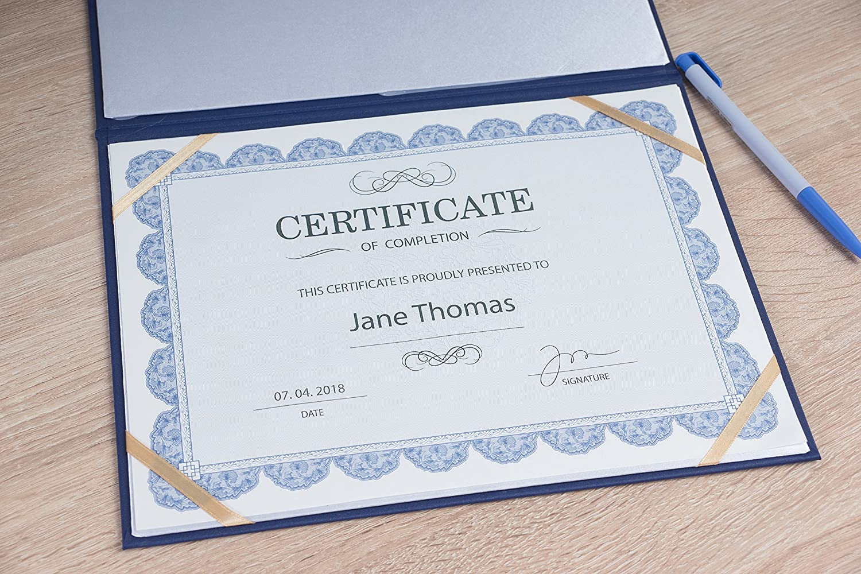 Certificate Holders Black, 11.5 x 9 in Juvale Diploma Cover