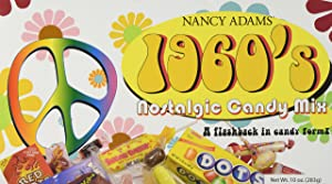1960's Retro Candy Gift Box-Decade Box Gift Basket - Classic 60's Candy, 10oz