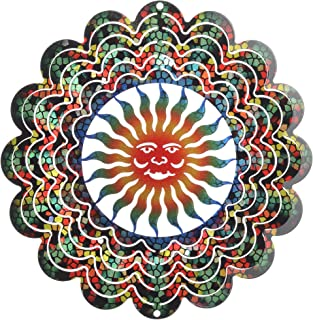 product image for Next Innovations 101105004 Kaleidoscope Small Sunface Stained Glass Wind Spinner