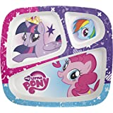 Zak Designs My Little Pony 3-section Kids Plate, TV Series