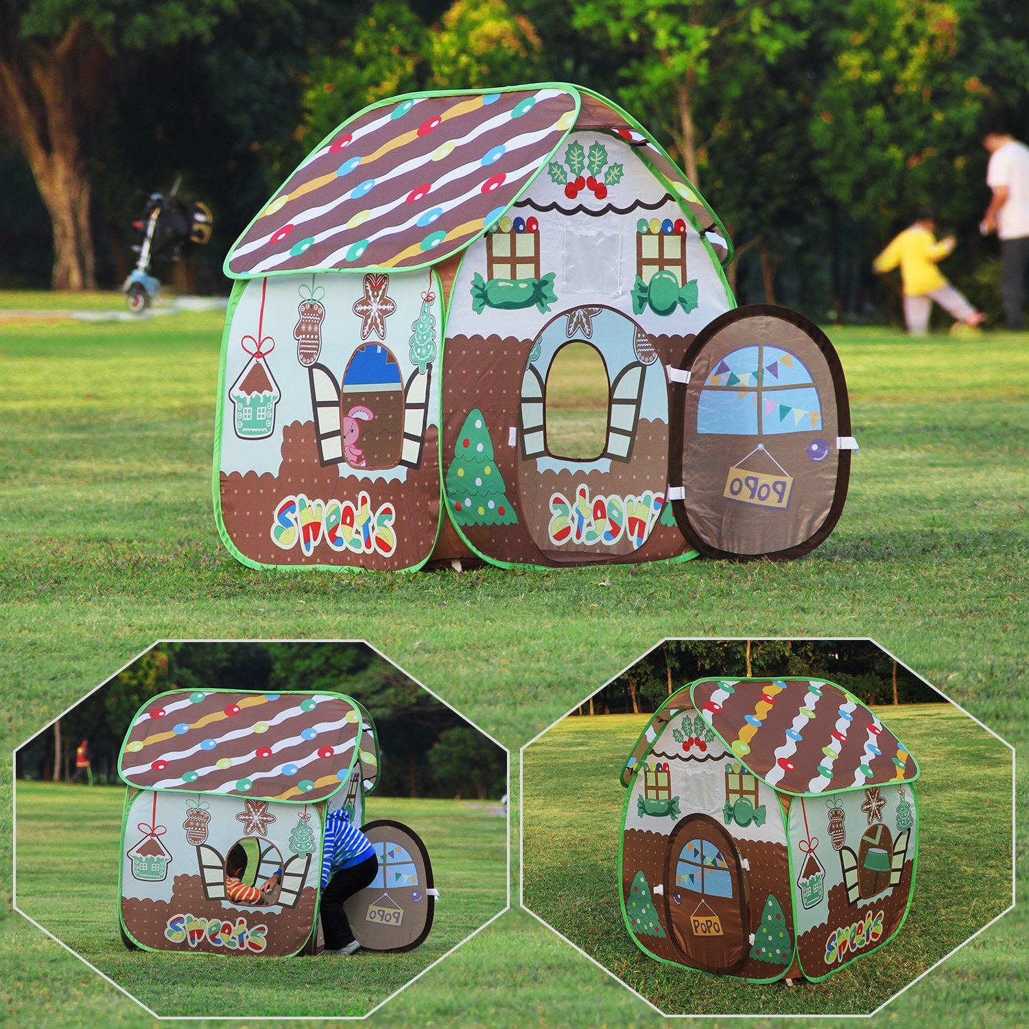 Homfu Play Tent For Kids For Indoor Outdoor Playhouse Boys