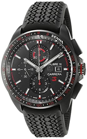 22cee01d9e0 Image Unavailable. Image not available for. Color: TAG Heuer Men's 'Carrera  Senna' Swiss Automatic Titanium ...