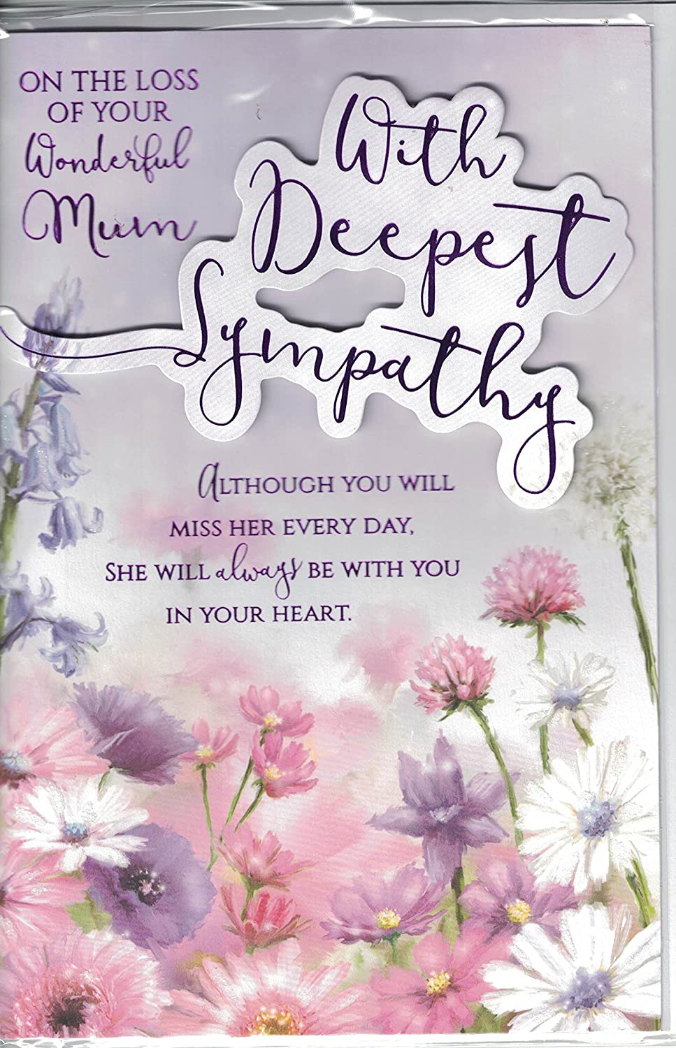 Sympathy Card On The Loss Of Your Wonderful Mum With Deepest