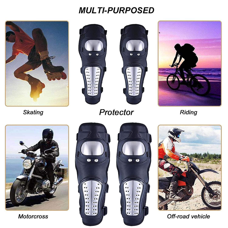 Genouill/ères Coudi/ères Paire de Prot/ège-genoux plus Paire de prot/ège-coudes pour moto motocross VTT pour motards