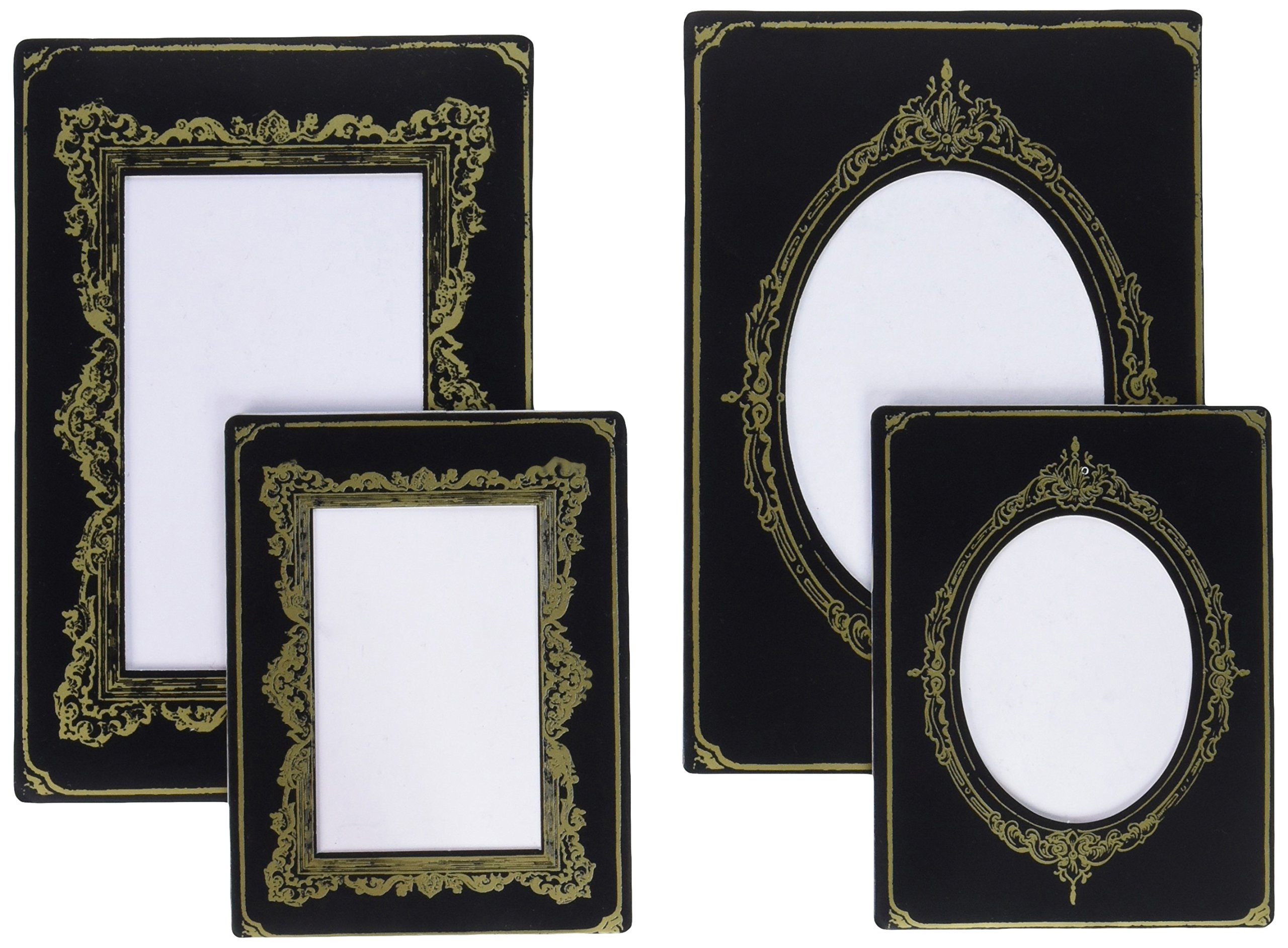 Tim Holtz Idea-ology Cabinet Cards Chipboard Frames 6 Per Pack, Sophisticate, Fits 3 x 4 and 4 x 6 Inch Photos, Black and Gold (TH93288) by ADVANTUS CORPORATION (Image #2)
