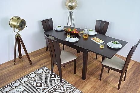 Tavolo da pranzo allungabile e 4 sedie set in legno massello mobili ...
