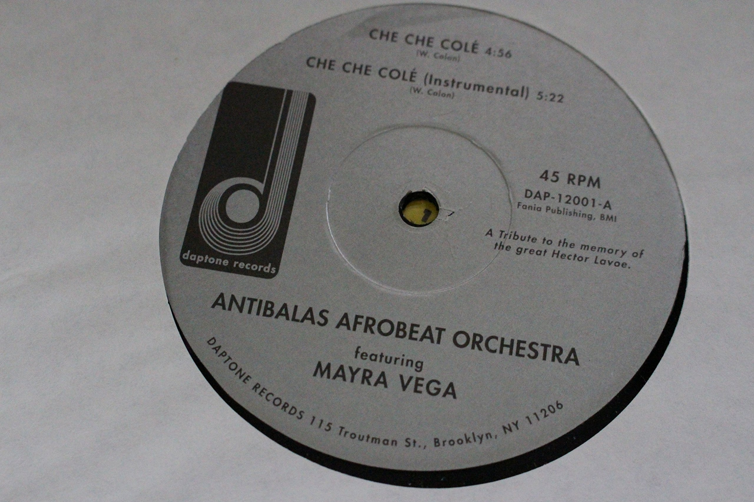 Antibalas Afrobeat Orchestra Che Che Cole' 12'' Single