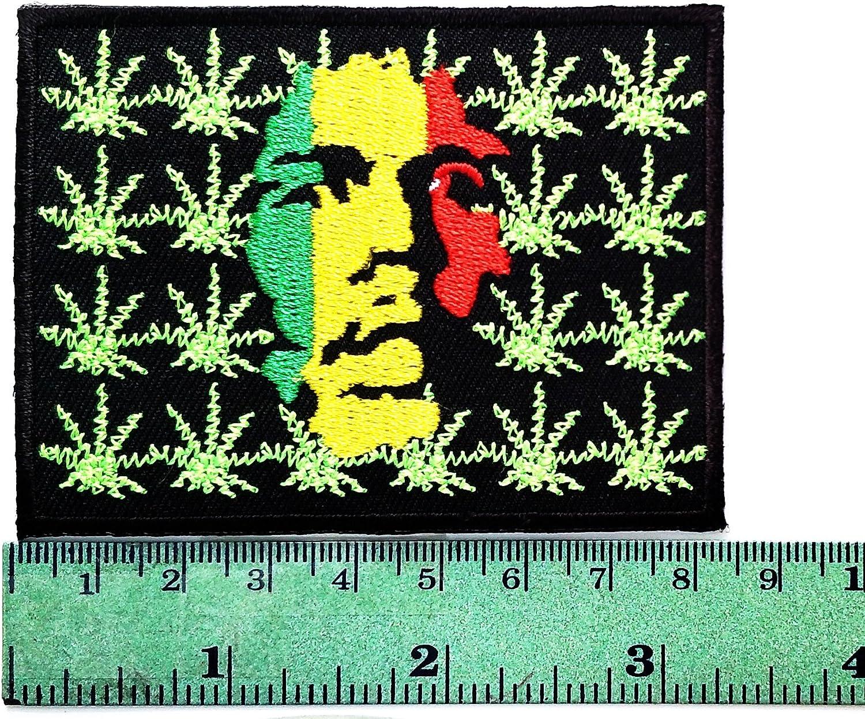 Parche de metal con logotipo de Marihuana Blade Bob, Marley ...