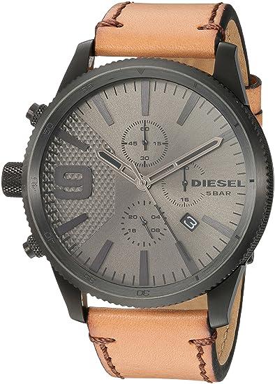 d59b2022cc4a Diesel Reloj Cronógrafo para Hombre de Cuarzo con Correa en Cuero DZ4468   Amazon.es  Relojes
