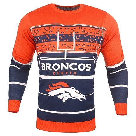 f01c85395 FOCO SWTCNNFSTDLU NFL Denver Broncos Mens Stadium Light Up Crew Neck Sweater