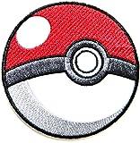 Pokeball Pokemon Cartoon Game Logo Girl Jacket T shirt Patches Sew Iron on Embroidered