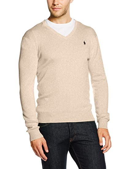 Ralph Lauren LS SF VN PP, Jersey para Hombre, Gris (Light Grey Heather AB003) X-Large: Amazon.es: Ropa y accesorios