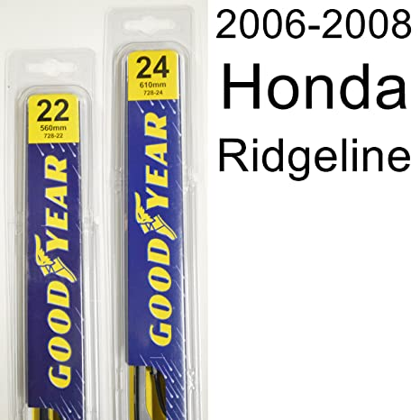 Amazon.com: Honda Ridgeline (2006-2008) Wiper Blade Kit - Set Includes 24