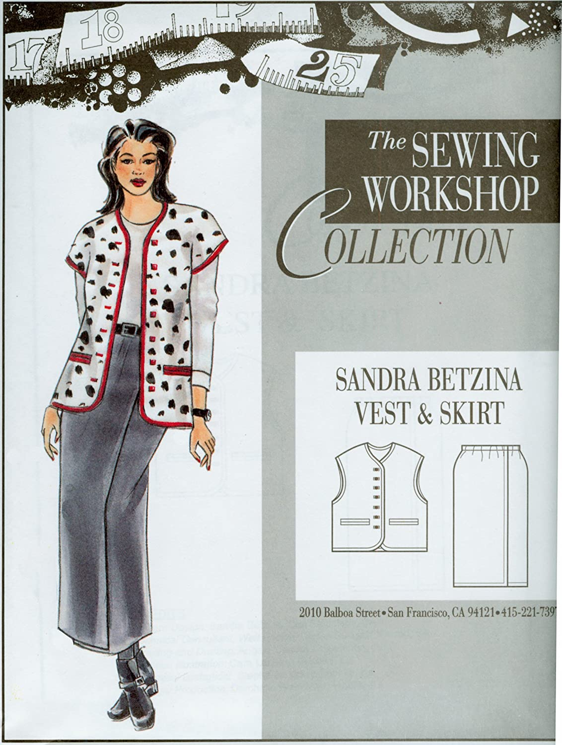 The Sewing Workshop Sandra Betzina Vest and Skirt Sewing Template, Multi-Size by The Sewing Workshop B00FLT9PRY
