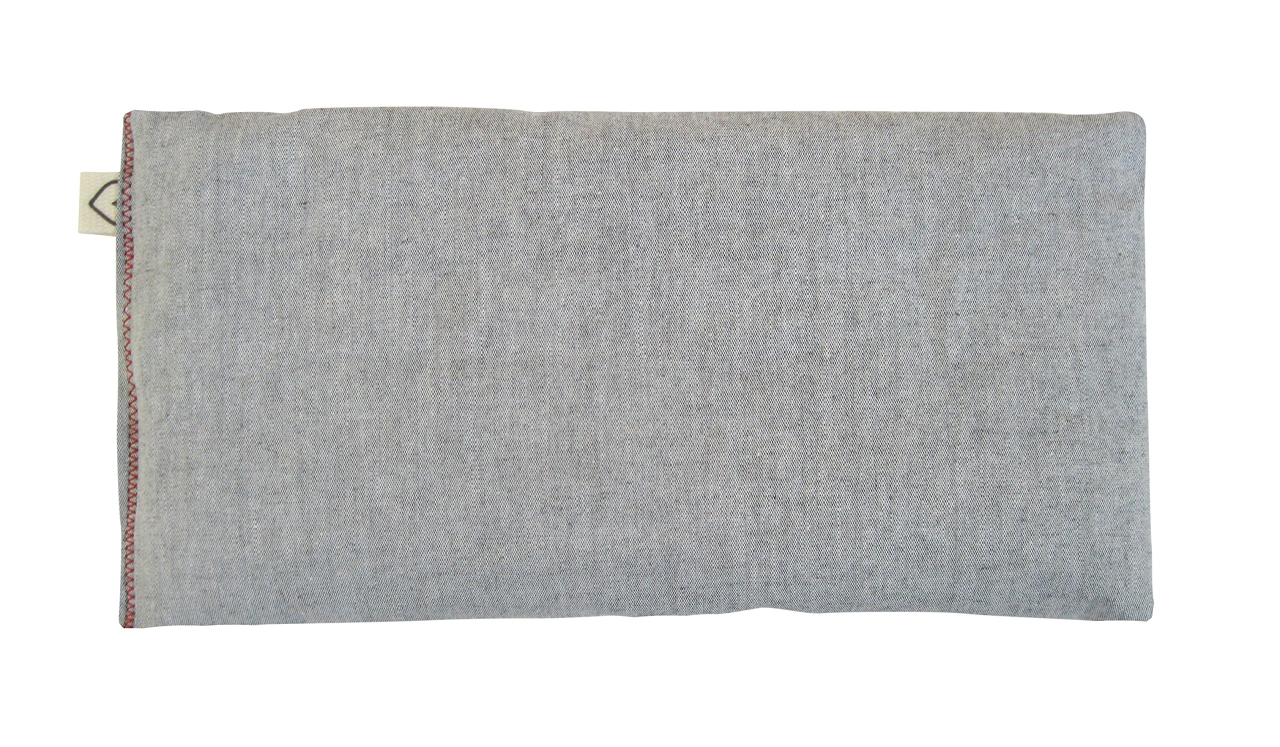 Peacegoods SCENTED Lavender Flax Seed Eye Pillow - 4 x 8.5 - Soft & Soothing Cotton - Naturally Calming Colors - gray charcoal by Peacegoods