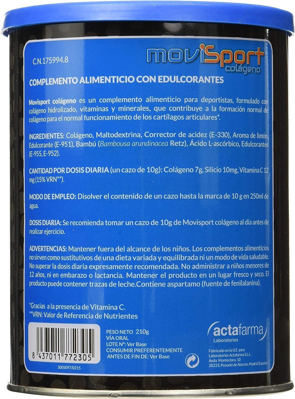 Movisport para deportistas con Colágeno, silicio orgánico y vitamina C - 3 Unidades: Amazon.es: Salud y cuidado personal