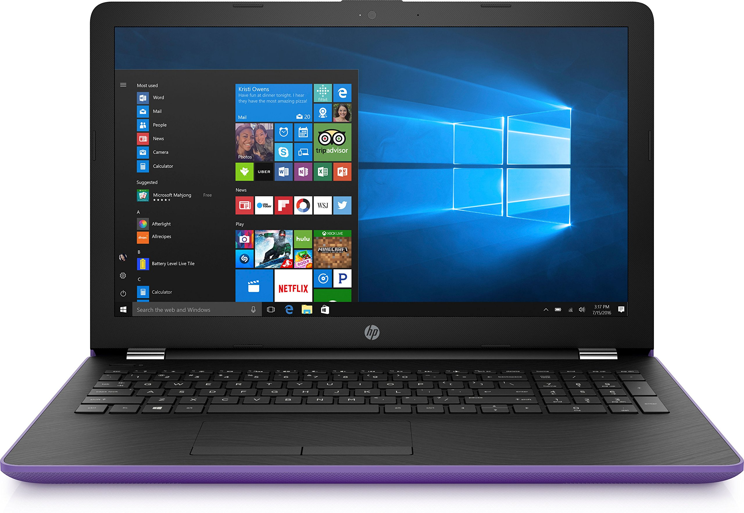 "HP 15-bw000 15-bw072nr 15.6"" LCD Notebook - AMD"