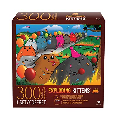 Cardinal Games 6046342 Exploding Kittens 300 Piece Jigsaw Puzzle, Multicolor: Toys & Games