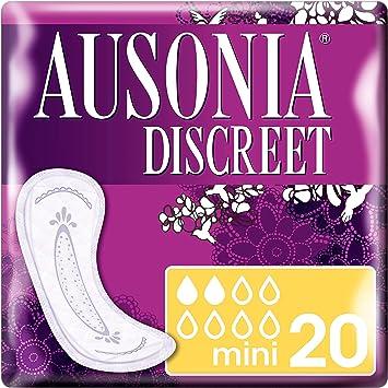 Oferta amazon: Ausonia Discreet - Compresas para pérdidas de orina mini para vejigas hiperactivas x 20