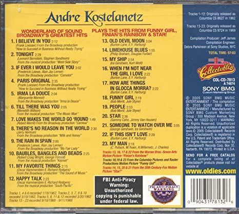 Kostelanetz Andre Broadway S Greatest Hits Andre Kostelanetz