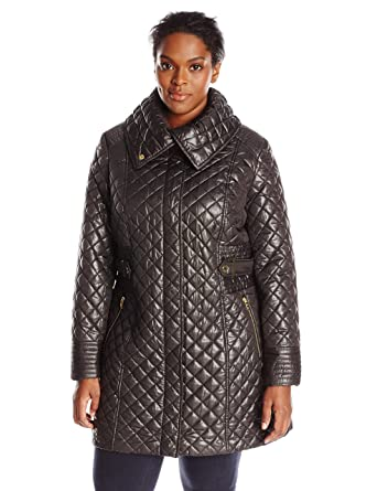 Via Spiga Women's Plus-Size Lightweight Quilted Jacket with Side ... : quilted jacket plus size - Adamdwight.com