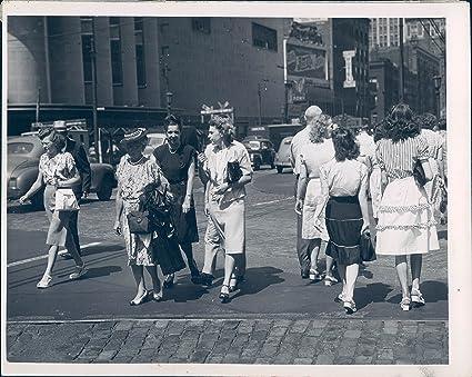 Amazon com: 1940 Photo People Street Dress Historic Vintage