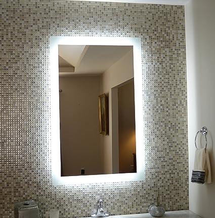 Amazoncom Wall Mounted Lighted Vanity Mirror Mam92844 28 Home