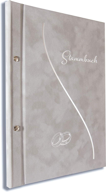 Libro de familia A4, alto gris claro, libro de familia para bodas oficina incl. 11 fundas multitaladro: Amazon.es: Hogar