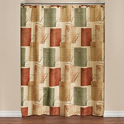 SKL Home Tranquility Shower Curtain Spice