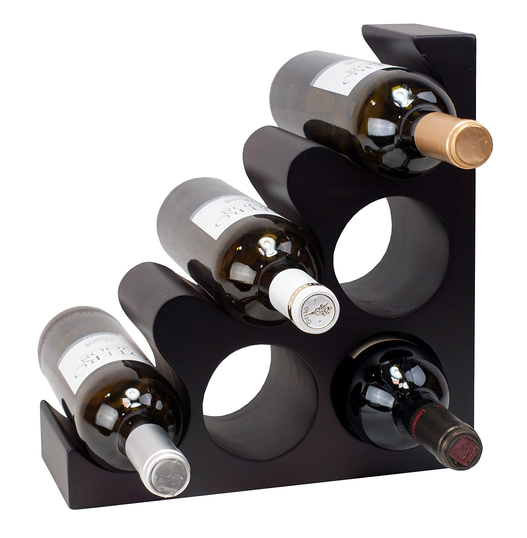 Expovinalia 250298–Portabottiglie, colore: marrone scuro