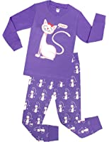 sheliy-Girls Little Girls Cat Pajamas Toddler Sleepwear Children Cotton Christmas PJs Pants Set