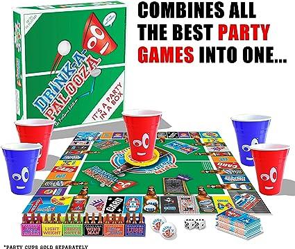 DRINK-A-PALOOZA (COPA-A-PALOOZA) potable juegos para adultos, los mejores juegos de mesa adultos & PARTY GAMES, juegos para adultos y adultos regalos juguetes para adultos y soltero fiesta regalos para fiestas de colegio